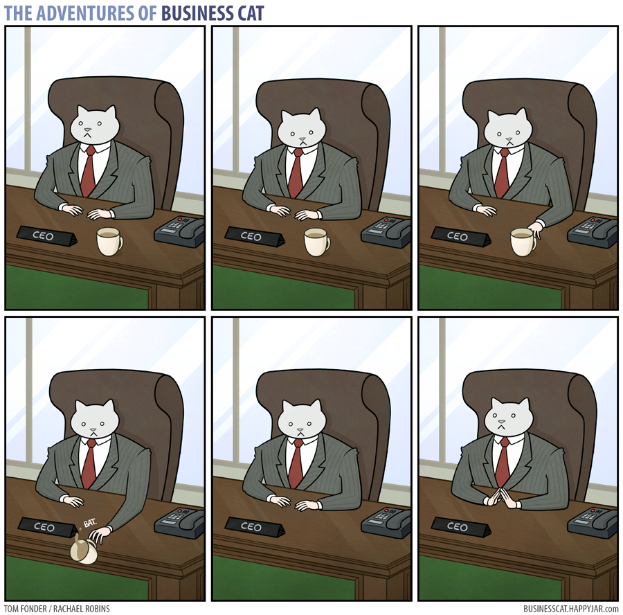Business Cat - Coffee