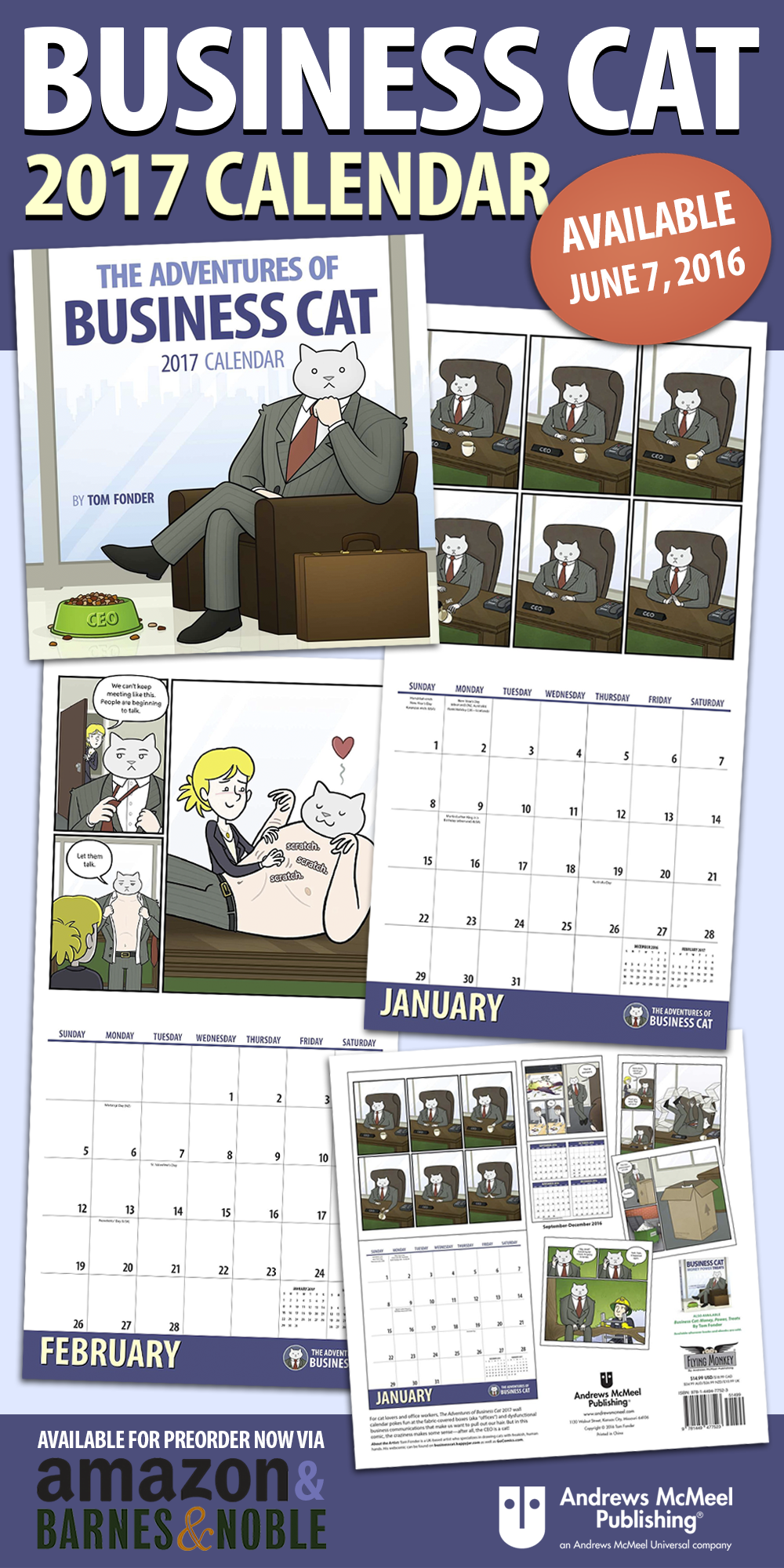 Business Cat 2017 Calendar