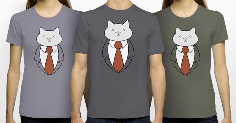 Business Cat Bust T-Shirt